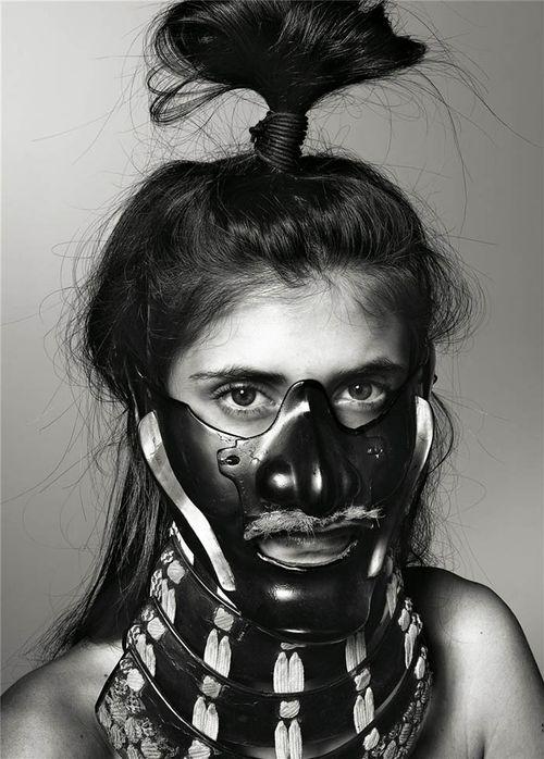 Richard-burbridge-mask-photography-for-livraison-magazine
